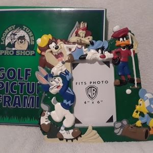 Vintage Looney tunes golf picture frame
